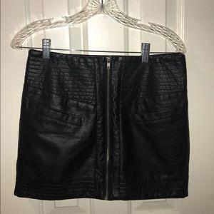 Lulus Mini Leather Skirt